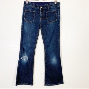 Stella McCartney Destroyed Ankle Fit Jeans Size 30